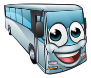 Coach Bus Cartoon Character Mascot. A bus or coach cartoon character mascot royalty free illustration