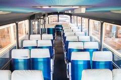 Coach bus interior Royalty Free Stock Photography