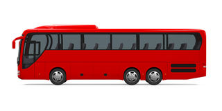 Coach Bus Isolated. On white background. 3D render stock illustration