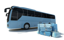 Coach bus and luggage Stock Photography