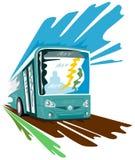 Coach bus speeding retro style