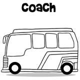 Coach bus of transportation vector Royalty Free Stock Photos