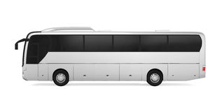 Coach Bus. On white background. 3D render vector illustration