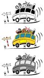 Coach buses cartoon Stock Photo