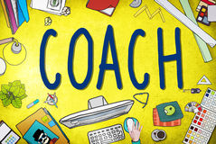 Coach Coaching Guide Instructor Leader Manager Tutor Concept Stock Image