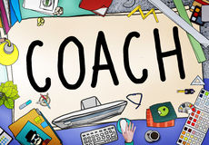Coach Coaching Guide Instructor Leader Manager Tutor Concept Stock Photography