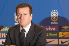 Coach Dunga. RIO DE JANEIRO/RJ, BRASIL - MAY 05, 2015 - Coach Dunga during convening of the national team for the Copa America in Chile in June Royalty Free Stock Photos