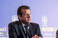 Coach Dunga. RIO DE JANEIRO/RJ, BRASIL - MAY 05, 2015 - Coach Dunga during convening of the national team for the Copa America in Chile in June Stock Image