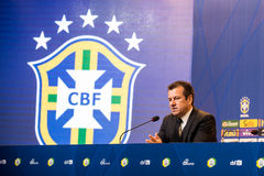 Coach Dunga. RIO DE JANEIRO/RJ, BRASIL - MAY 05, 2015 - Coach Dunga during convening of the national team for the Copa America in Chile in June Royalty Free Stock Image