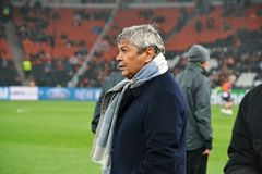 Coach of FC Shakhtar Mircea Lucescu Royalty Free Stock Photo
