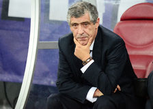 Coach Fernando Santos pictured before FIFA World Cup 2014 playoff Stock Photos