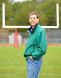 The Coach and Football Goal Post Stock Photos