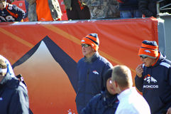Coach Fox. Coach John Fox on his first game back after heart surgery stock images