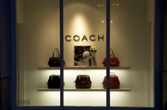 Coach handbag purse store stock photography