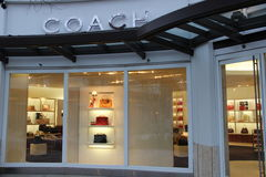 Coach Handbag Store. Store has Great selection of luxury  handbags and accessories Stock Images