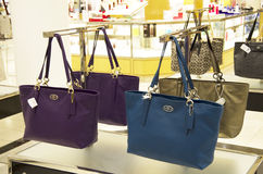 Coach handbags store Royalty Free Stock Image