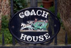Coach house sign Royalty Free Stock Photography