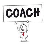 The coach. Joe is the best coach in this room royalty free illustration