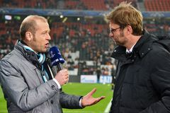 Coach Jurgen Klopp is interviewed Stock Photography