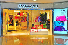 Coach leather goods store in hong kong Stock Images