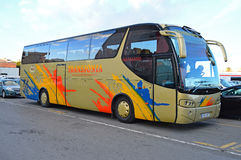A Coach Or Luxury Bus - Transport Commuting Road transport Travel Stock Image