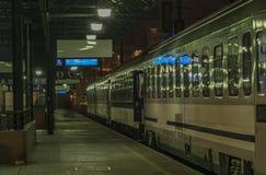 Coach of night train to Slovakia and Poland Stock Photography