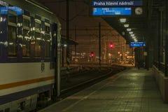 Coach of night train to Slovakia and Poland Royalty Free Stock Photos
