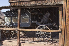 Coach in old Calico. An old coach in the town of Calico Ghost California-USA Royalty Free Stock Photography