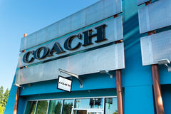 Coach outlet store. Coach store at Seattle premium outlets Royalty Free Stock Photography