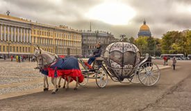 Coach at Palace Square Royalty Free Stock Photo