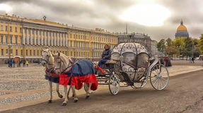 Coach at Palace Square Stock Images
