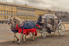 Coach at Palace Square Stock Photography