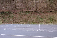 Coach parking bays in Cheddar gorge Stock Images