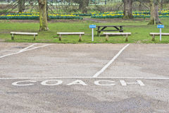 Coach parking Royalty Free Stock Photography
