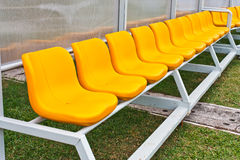 Coach and reserve  benches Royalty Free Stock Photo