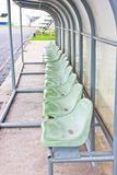 Coach and Reserve Benches. Stock Image