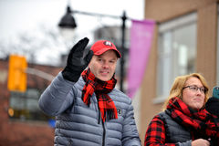 Coach Rick Campbell in Grey Cup Parade Stock Images