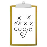Coach's clipboard Stock Photography