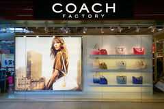 Coach shop at City gate Outlet,. HONGKONG - JUNE 15 :Coach shop at City gate Outlet, JUNE 15, 2014,city gate outlet is owned by a consortium of Hong Kong's Royalty Free Stock Photo