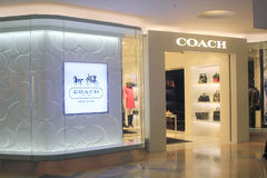 Coach shop in Hong Kong stock image