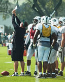 Coach showing play. New york jets training camp in cortland,new york. photo taken august 4th,2010 Stock Photography