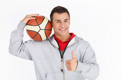 Coach showing thumbs up Royalty Free Stock Photos