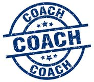 Coach stamp. Coach grunge vintage stamp isolated on white background. coach. sign royalty free illustration