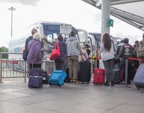 Coach Station in Stansted Royalty Free Stock Images