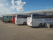 Coach Station in Stansted Royalty Free Stock Photography