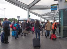 Coach Station in Stansted Royalty Free Stock Image