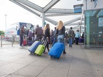 Coach Station in Stansted Stock Photo