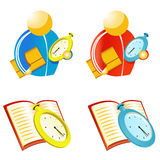 Coach with stopwatch. Icons set Royalty Free Stock Images