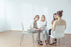 Coach and support group Royalty Free Stock Photo