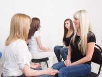 Coach and support group during psychological Stock Images